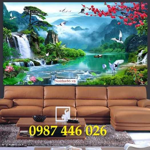 Tranh gạch thiên nhiên thác nước HP3890