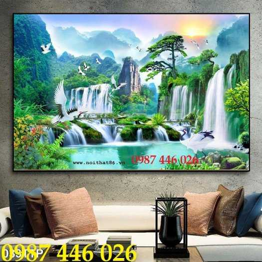 Tranh gạch thiên nhiên thác nước HP3892