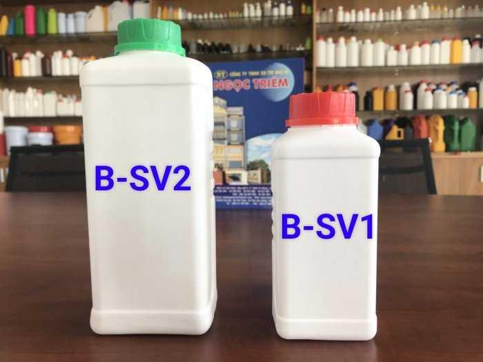 Bình Nhựa 0.5 Lít vuông/ 650ML/ 1 Lít Vuông HDPE - Bao Bì Ngọc Triêm3