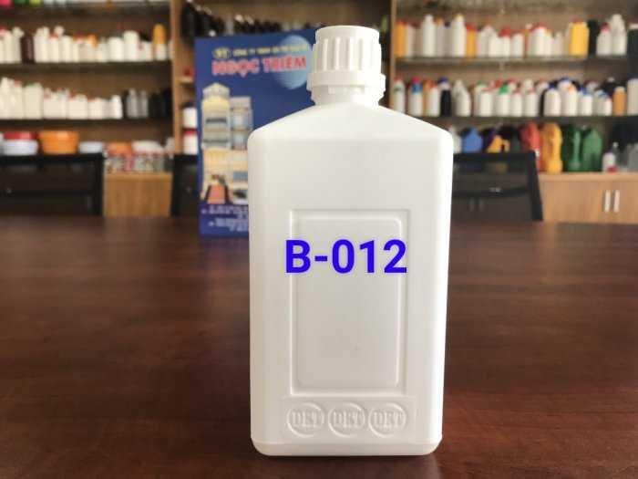 Bình Nhựa 0.5 Lít vuông/ 650ML/ 1 Lít Vuông HDPE - Bao Bì Ngọc Triêm1