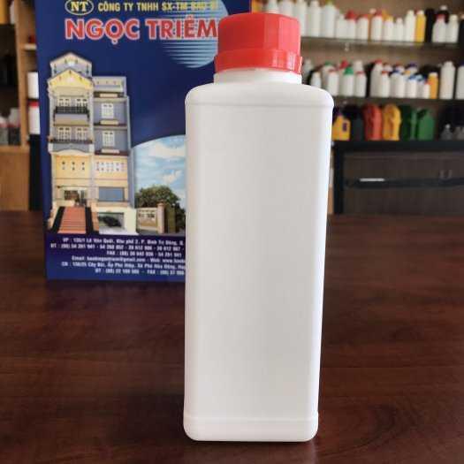 Bình Nhựa 650ml Vuông (B-030) - Bao Bì Ngọc Triêm2