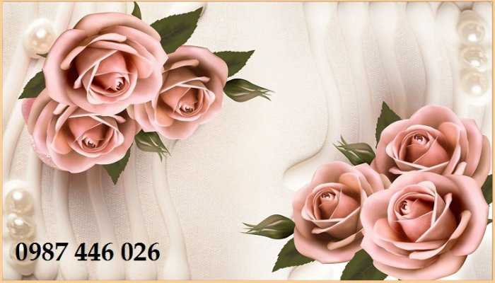 Tranh Gạch Men Hoa Hồng 3d Hp72116