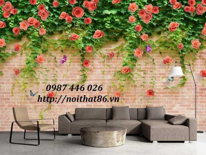 Tranh Gạch Men Hoa Hồng 3d Hp72110
