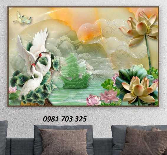 Gạch Tranh 3d Chim Hạc6