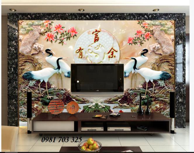 Gạch Tranh 3d Chim Hạc3