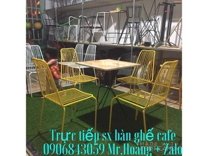 Bộ bàn ghế sắt cafe giá xưởng - nội thất Nguyễn hoàng0