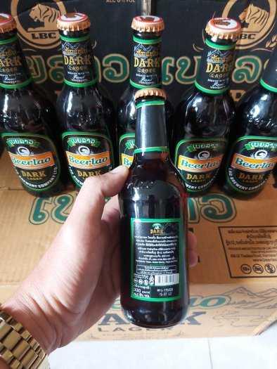 Bia Lào Đen 330ml, 24 Chai 6,5% Cồn.1