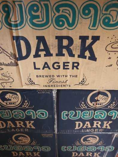 Bia Lào Đen 330ml, 24 Chai 6,5% Cồn.0