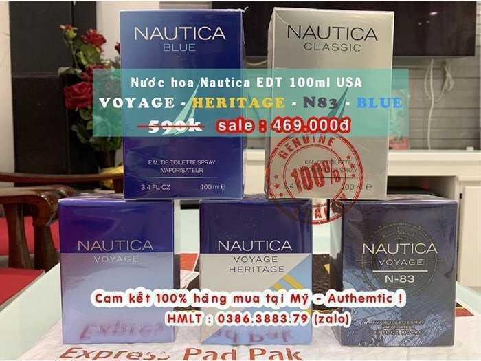 Nước hoa Nam Nautica Voyage - Nautica Heritage - Nautica N83 - Nautica Blue EDT 100ml , Us , nguyên seal.0