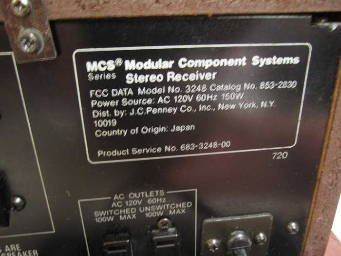 Ampli Receiver Mcs 3248