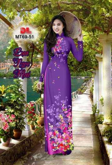 Vải Áo Dài Mt69 - Vải Áo Dài Lụa Ngọc Mai Cao Cấp15