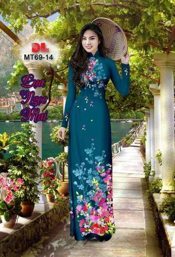 Vải Áo Dài Mt69 - Vải Áo Dài Lụa Ngọc Mai Cao Cấp11