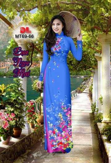 Vải Áo Dài Mt69 - Vải Áo Dài Lụa Ngọc Mai Cao Cấp13