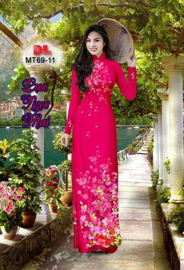 Vải Áo Dài Mt69 - Vải Áo Dài Lụa Ngọc Mai Cao Cấp0