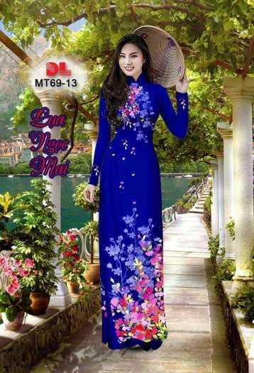 Vải Áo Dài Mt69 - Vải Áo Dài Lụa Ngọc Mai Cao Cấp5