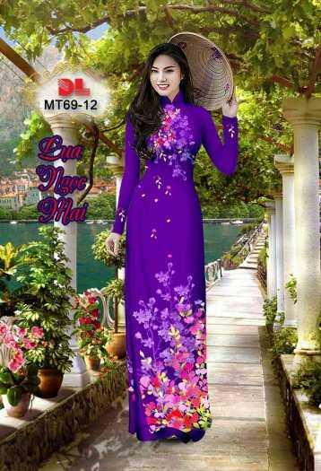 Vải Áo Dài Mt69 - Vải Áo Dài Lụa Ngọc Mai Cao Cấp8