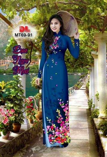 Vải Áo Dài Mt69 - Vải Áo Dài Lụa Ngọc Mai Cao Cấp3