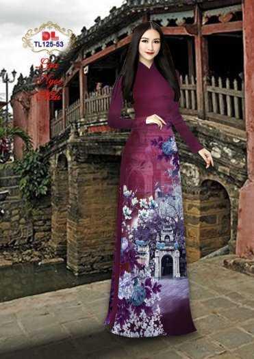Vải Áo Dài Phong Cảnh Đẹp Tl125 - Vải Lụa Ngọc Mai Cao Cấp4