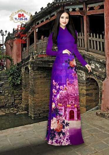 Vải Áo Dài Phong Cảnh Đẹp Tl125 - Vải Lụa Ngọc Mai Cao Cấp15