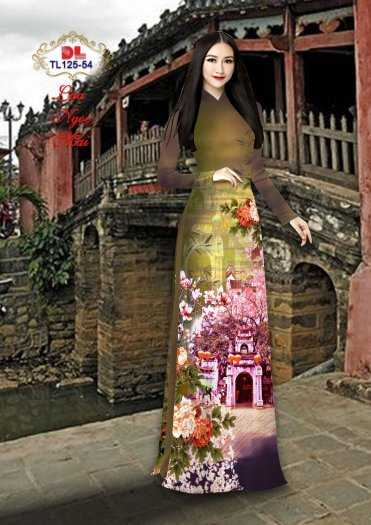 Vải Áo Dài Phong Cảnh Đẹp Tl125 - Vải Lụa Ngọc Mai Cao Cấp11