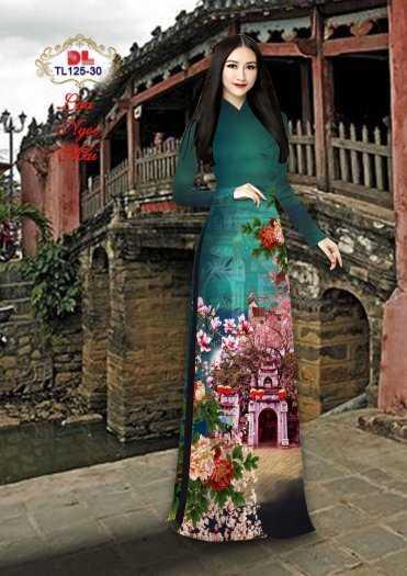 Vải Áo Dài Phong Cảnh Đẹp Tl125 - Vải Lụa Ngọc Mai Cao Cấp12