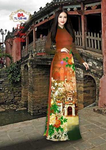 Vải Áo Dài Phong Cảnh Đẹp Tl125 - Vải Lụa Ngọc Mai Cao Cấp9
