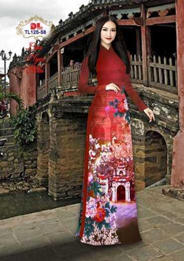 Vải Áo Dài Phong Cảnh Đẹp Tl125 - Vải Lụa Ngọc Mai Cao Cấp10