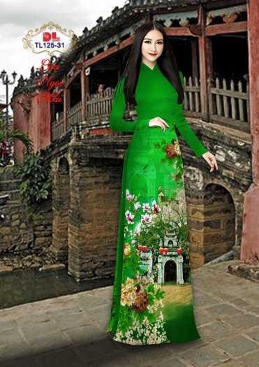 Vải Áo Dài Phong Cảnh Đẹp Tl125 - Vải Lụa Ngọc Mai Cao Cấp13
