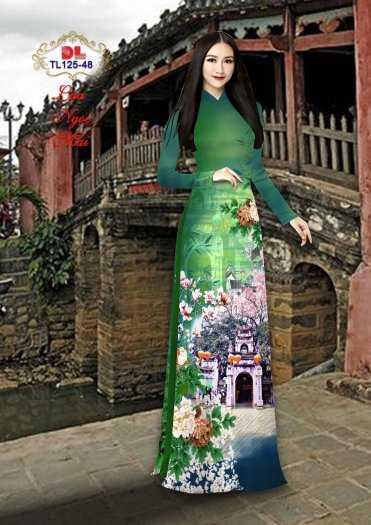 Vải Áo Dài Phong Cảnh Đẹp Tl125 - Vải Lụa Ngọc Mai Cao Cấp3