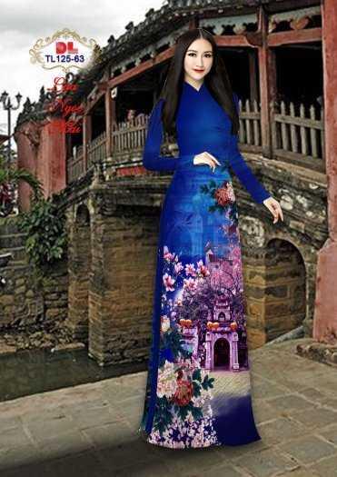 Vải Áo Dài Phong Cảnh Đẹp Tl125 - Vải Lụa Ngọc Mai Cao Cấp7