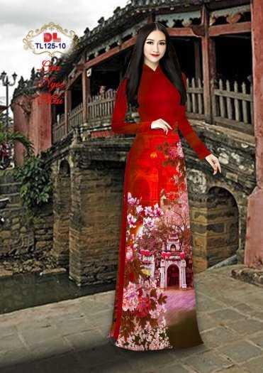 Vải Áo Dài Phong Cảnh Đẹp Tl125 - Vải Lụa Ngọc Mai Cao Cấp1