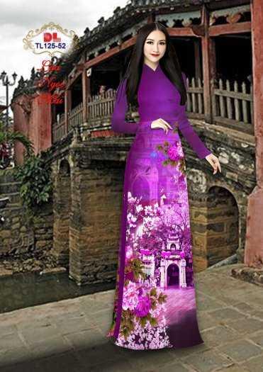 Vải Áo Dài Phong Cảnh Đẹp Tl125 - Vải Lụa Ngọc Mai Cao Cấp5