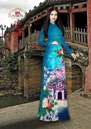 Vải Áo Dài Phong Cảnh Đẹp Tl125 - Vải Lụa Ngọc Mai Cao Cấp8