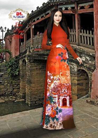 Vải Áo Dài Phong Cảnh Đẹp Tl125 - Vải Lụa Ngọc Mai Cao Cấp6