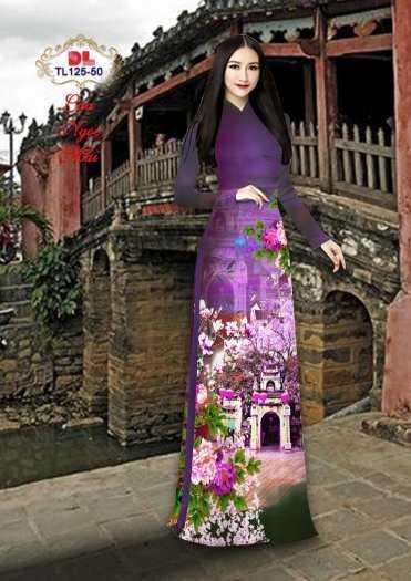 Vải Áo Dài Phong Cảnh Đẹp Tl125 - Vải Lụa Ngọc Mai Cao Cấp14