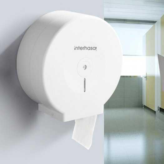 Hộp đựng giấy vệ sinh công nghiệp ineterhasa E 1008 Trắng2