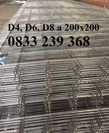 Lưới thép đổ sàn bê tông phi 6 ô 150x150, 200x200, 250x250 làm theo đơn đặt hàng, giao hàng 3 ngày4