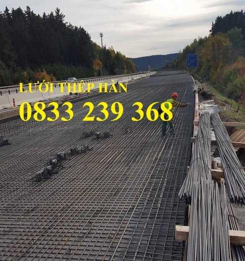 Lưới thép đổ sàn bê tông phi 6 ô 150x150, 200x200, 250x250 làm theo đơn đặt hàng, giao hàng 3 ngày3