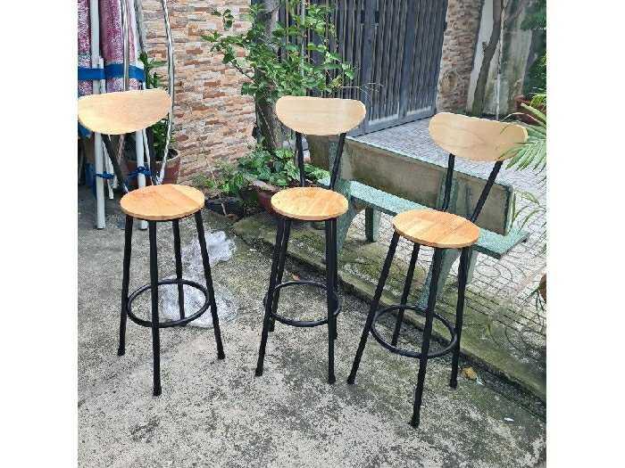 Ghế quầy bar giá rẻ ghế sắt gỗ0