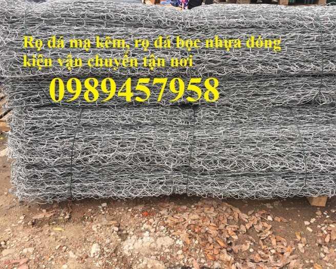 Địa chỉ làm Rọ đá chống sạt lở 2x1x1, 2x1x0,5, Rọ thép kè đường, Rọ thép bọc nhựa 2x1x0,514