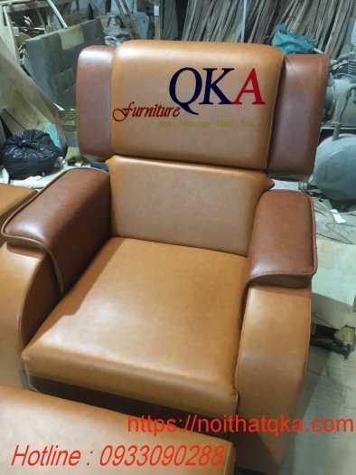 Mẫu ghế massage chân bọc da0