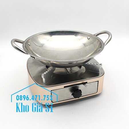 Bán bếp cồn inox cao cấp màu hồng có ngăn kéo đựng cồn - Bếp cồn khô màu hồng cho nhà hàng khách sạn11