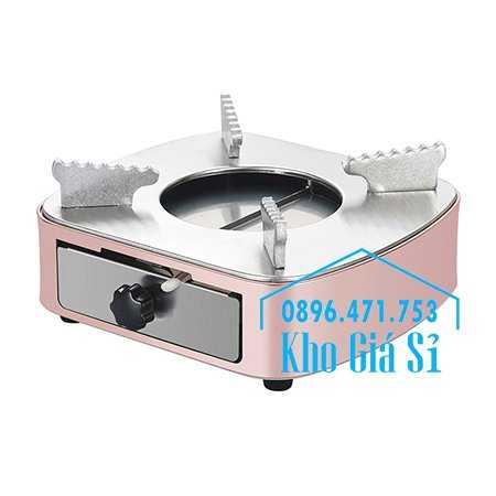 Bán bếp cồn inox cao cấp màu hồng có ngăn kéo đựng cồn - Bếp cồn khô màu hồng cho nhà hàng khách sạn