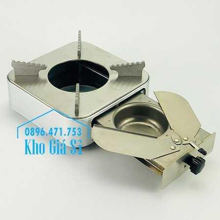 Cung cấp bếp cồn inox hình vuông màu bạc có ngăn kéo đựng cồn cho nhà hàng, quán ăn, resort2