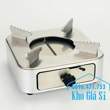 Cung cấp bếp cồn inox hình vuông màu bạc có ngăn kéo đựng cồn cho nhà hàng, quán ăn, resort1