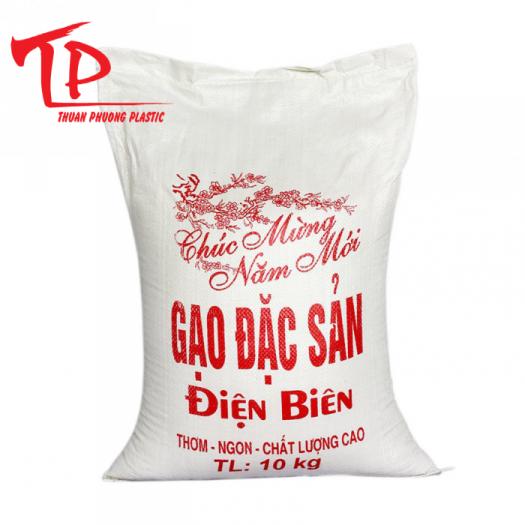 Bao bì nhựa  đựng gạo có in0