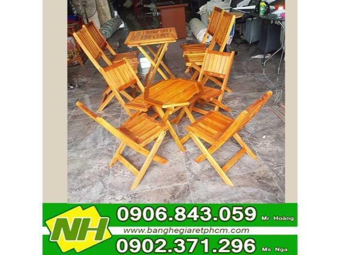 Bộ bàn ghế xếp gỗ giá rẽ0