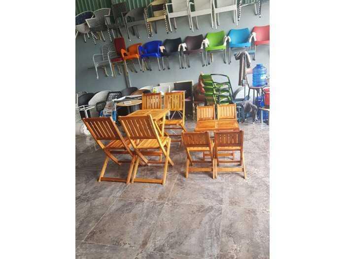 Bộ bàn ghế xếp gỗ giá rẽ1