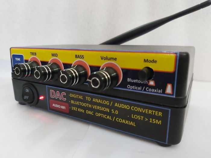 Bộ giải mã âm thanh Optical - D.I,Y Blueooth 5.0 & nâng tiếng6