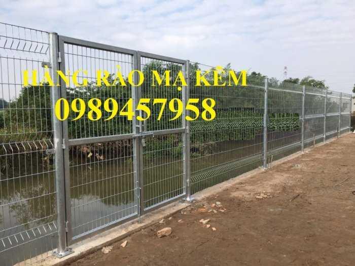 Gia công Hàng rào mạ kẽm sơn tĩnh điện phi 5, Lưới hàng rào nhà xưởng, Hàng rào nhà xe2